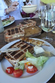 Lunch on the wine tour