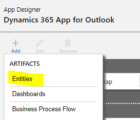 Add Entities to the App Designer