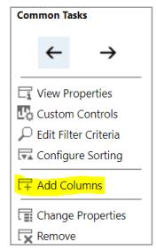 Add Columns.