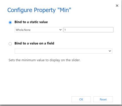 Set Min Value for Linear Slider