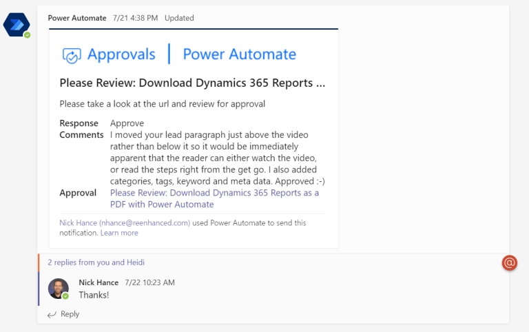 """An example of an app integration for the """"Approvals"""" app."""
