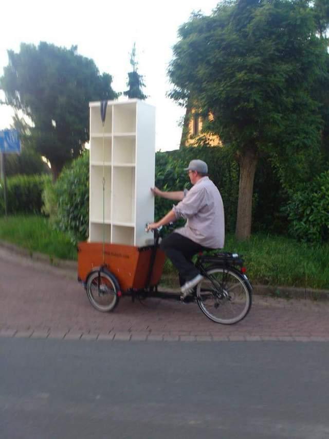 Umzug per lastenrad fahrrad babboe big e