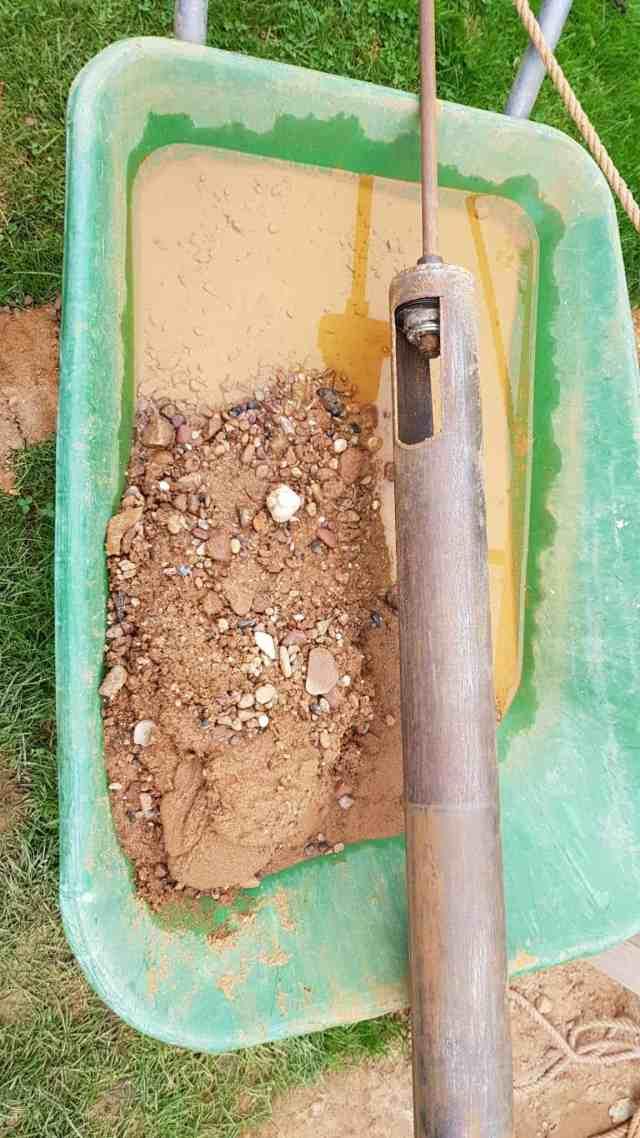 Brunnen bohren Bohrloch Bohrgestänge dreibein diy grundwasser