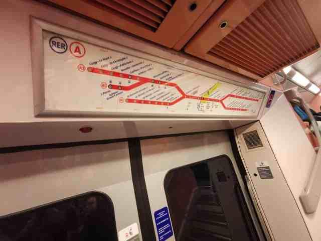 Anzeige RER A