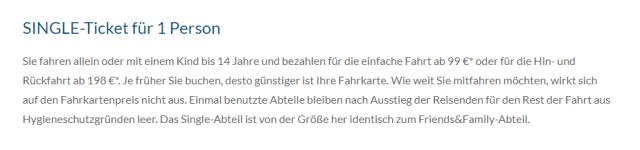 Alpen-Sylt Nachtexpress Single Ticket