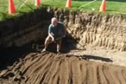 Excavating the rain garden at Hacienda Sarria