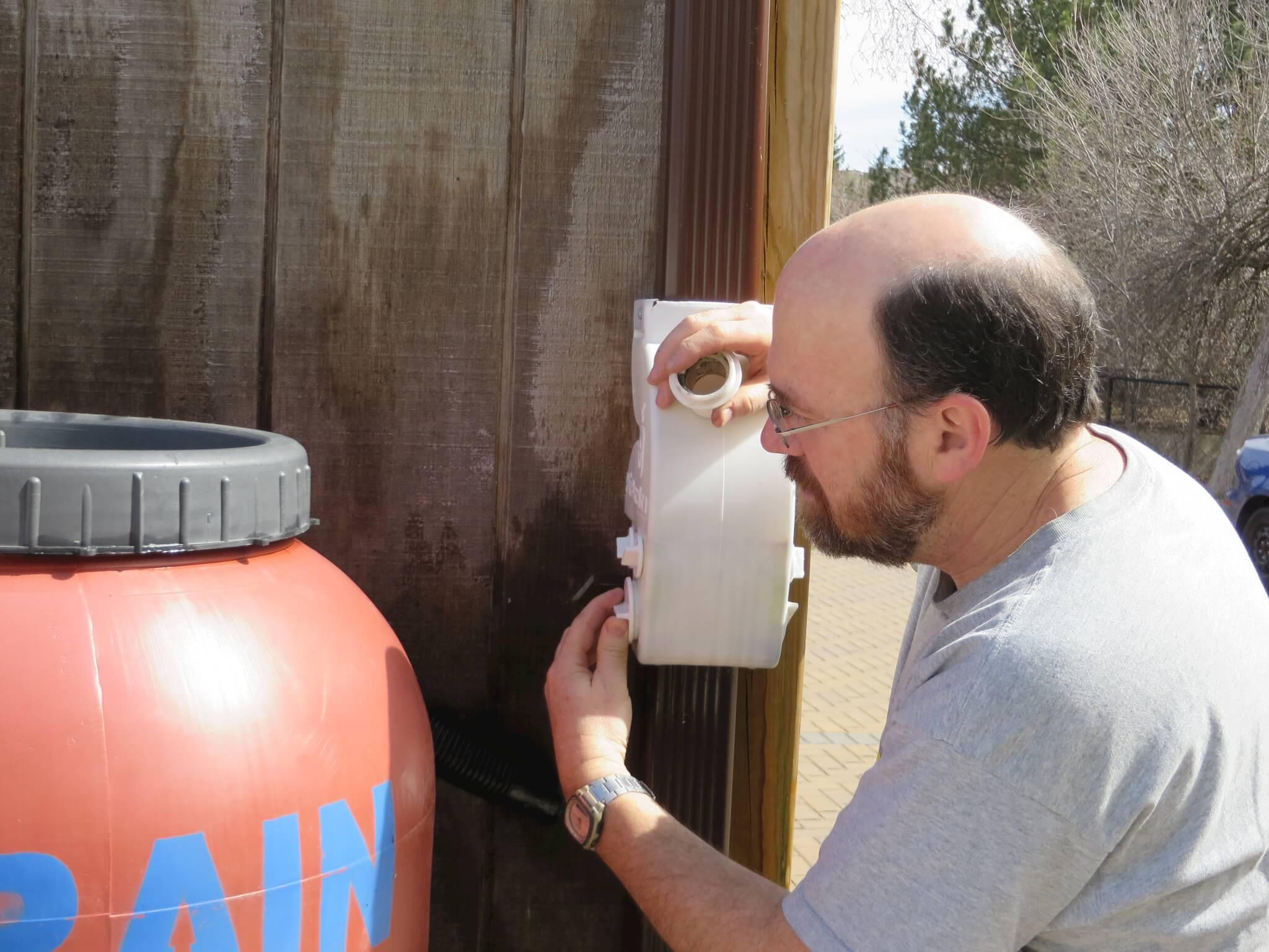 connecting a diverter to a rain barrel