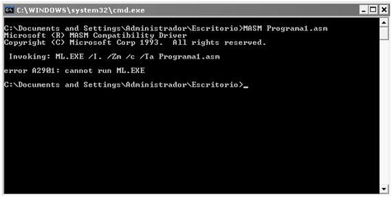 [Lenguaje Ensamblador] Acerca del funcionamiento de la ejecución de programas ASM desde la línea de comandos de Windows XP SP2 (O ¿Como ejecutar programas correctamente en el MASM? :P) (1/6)