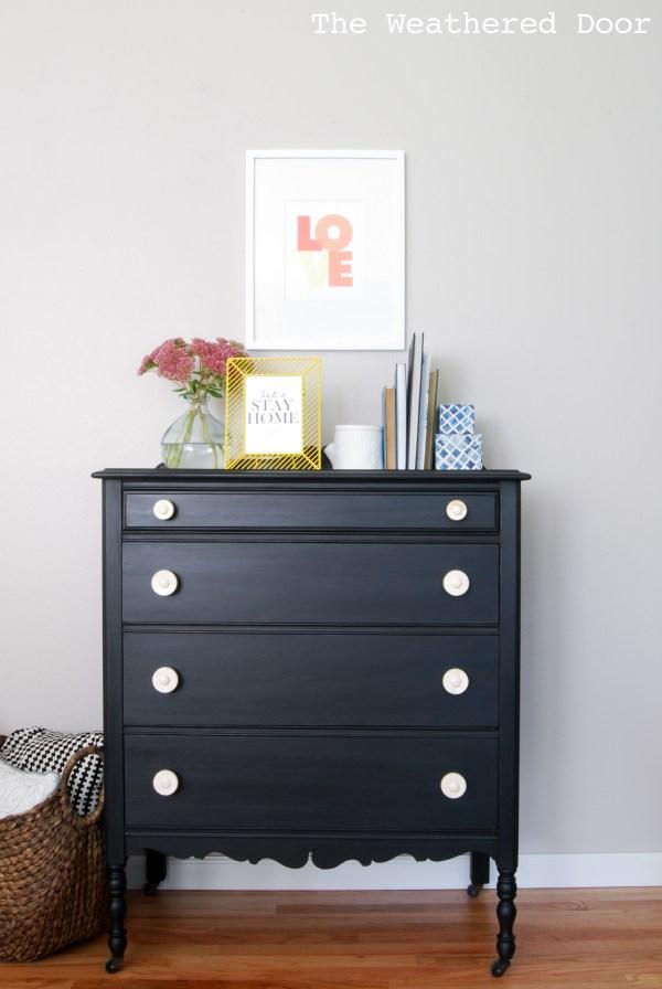 Milk Paint Furniture Black