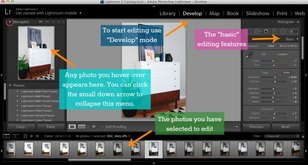 How to use Adobe Lightroom to Edit Photos and Grow Your Business WD 1