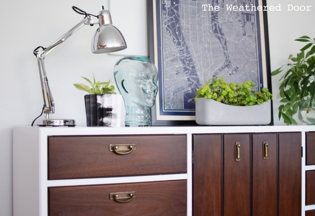 broyhill premier credenza with geometric drawers WD-9
