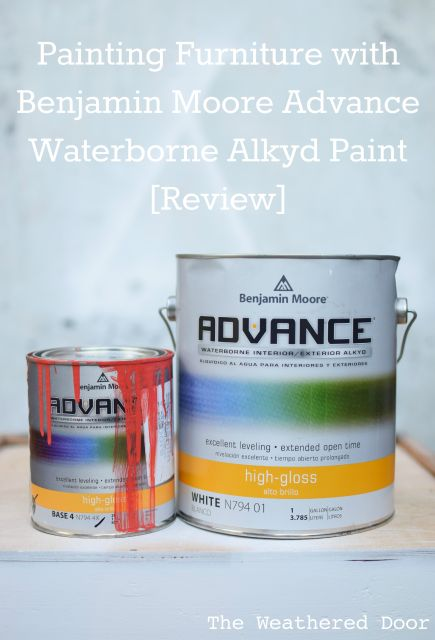 Painting Furniture with Benjamin Moore Advance high gloss Waterborne Alkyd Paint Review- pros and cons WD-8