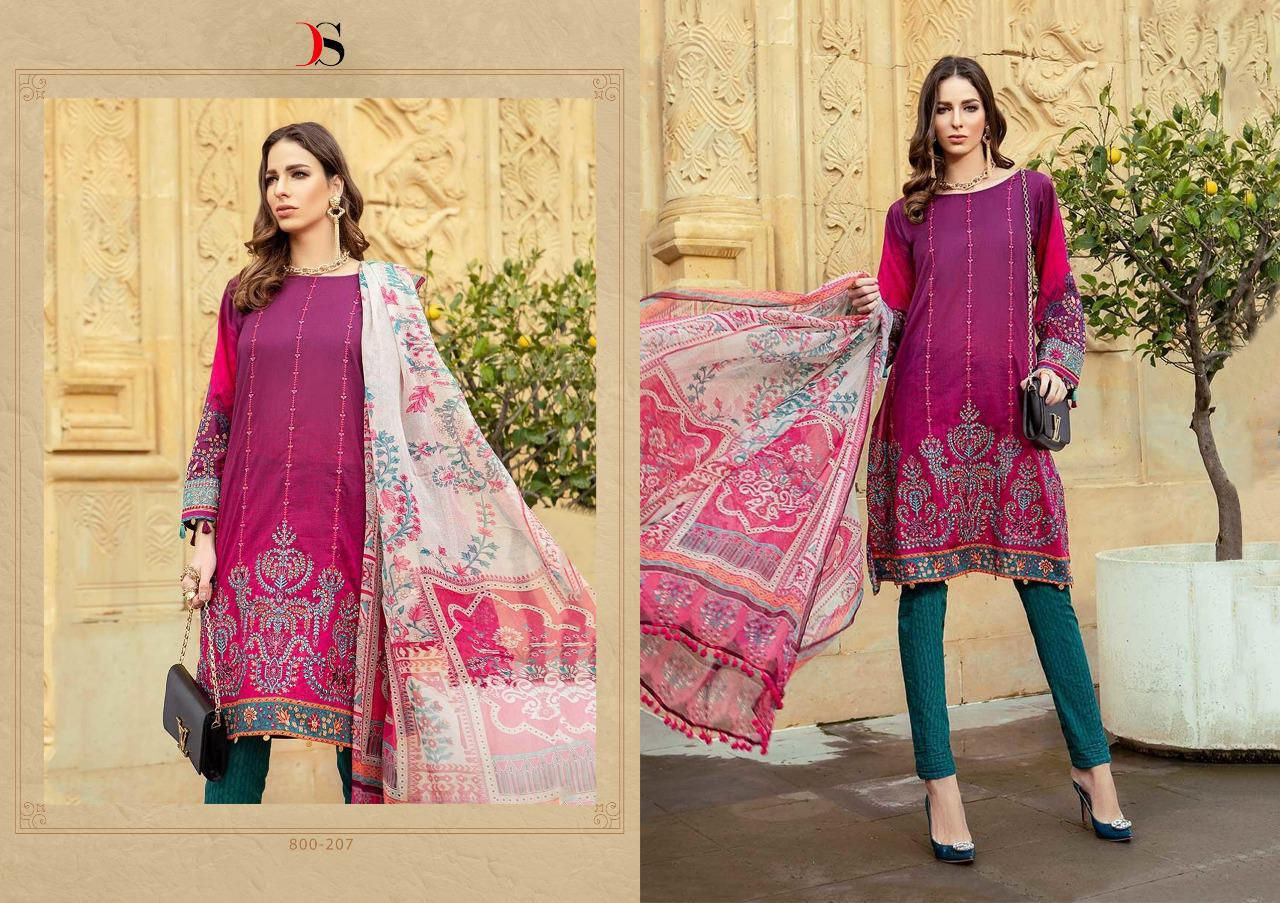 e896ba647c DEEPSY MARIA B 2 LAWN 19 PURE COTTON SUMMER WEAR PAKISTANI SALWAR ...