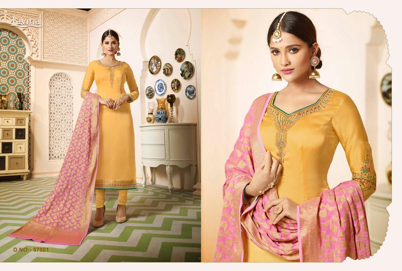cefb9c10d3 LAVINA VOL 57 SATIN GEORGETTE SALWAR SUIT WITH BANARASI DUPATTA COLLECTION