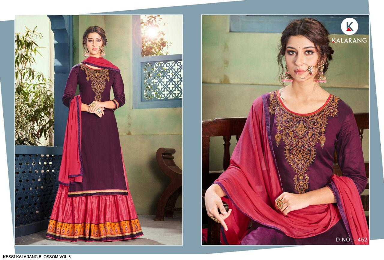 c0ee0d91c6 BLOSSOM VOL-3 BY KALARANG 451 TO 454 SERIES DESIGNER SUITS BEAUTIFUL ...