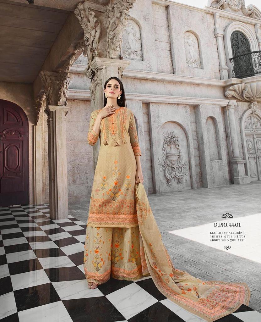 da1600c817 MARIGOLD BY GLOSSY 4401 TO 4408 DESIGNER FESTIVE SUITS COLLECTION BEAUTIFUL  STYLISH FANCY COLORFUL PARTY WEAR & OCCASIONAL WEAR PURE COTTON DIGITAL  PRINT ...
