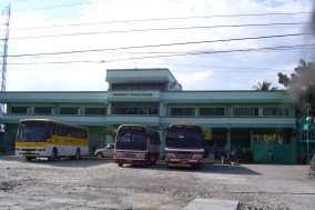 """The Shamrock building a.k.a. bus stop. This is where we buy our """"otap,"""" one of Cebu's top pasalubong products."""