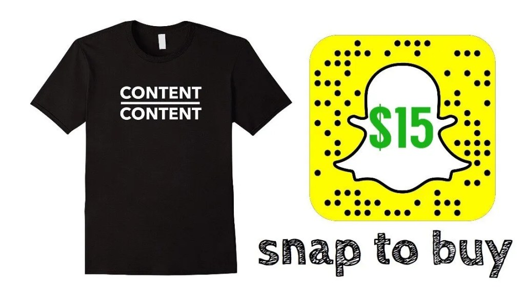 Influencer Marketing for Amazon Merch - Custom Snapchat QR Codes