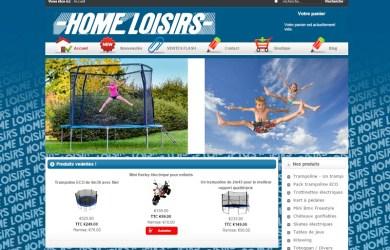 HomeLoisirs.fr: boutique en ligne de trampolines