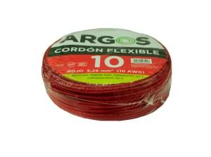 CABLE AHULADO ROJO # 10 ARGOS
