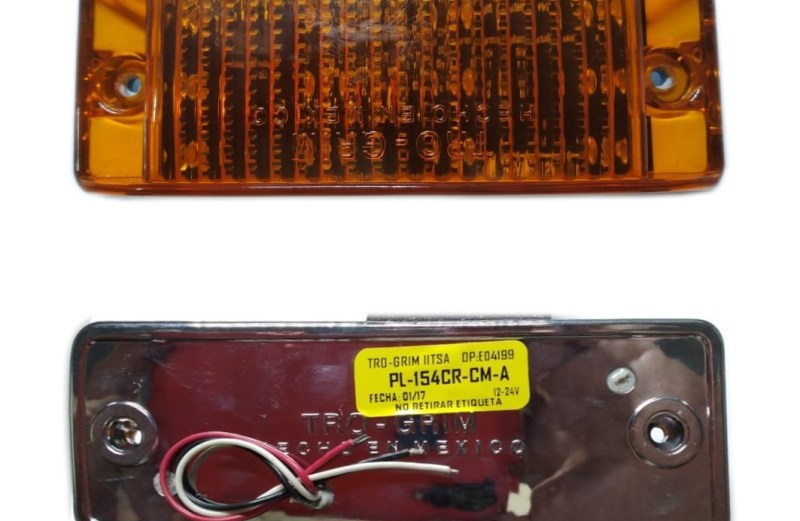 PLAFON 12 LED AMBAR CROMADO C/MOVIMIENTO