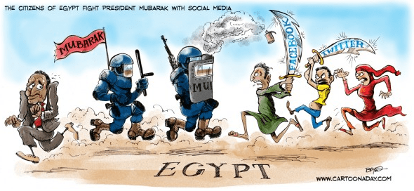 The Role of Facebook&Twitter in The Egyptian Revolution  (3/6)