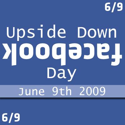 upsidedown facebook