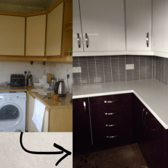 Kitchen Reface Cabinet Organizers Refacing Mount Vernon Glasgow Scotland Before And After From