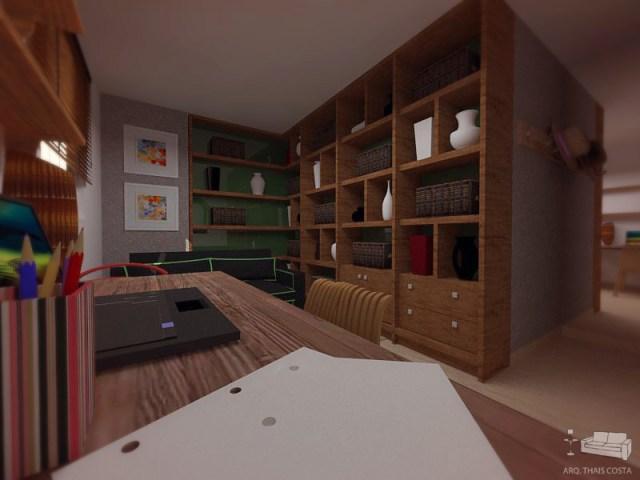 home office - projeto Arquiteta Thais Costa