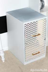 DIY File Cabinet Desk - REFASHIONABLY LATE