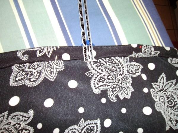 pinning hem for new dress