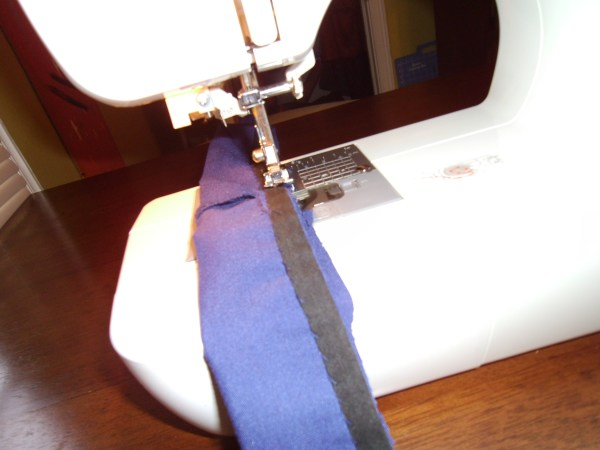sewing sash for dress on sewing machine