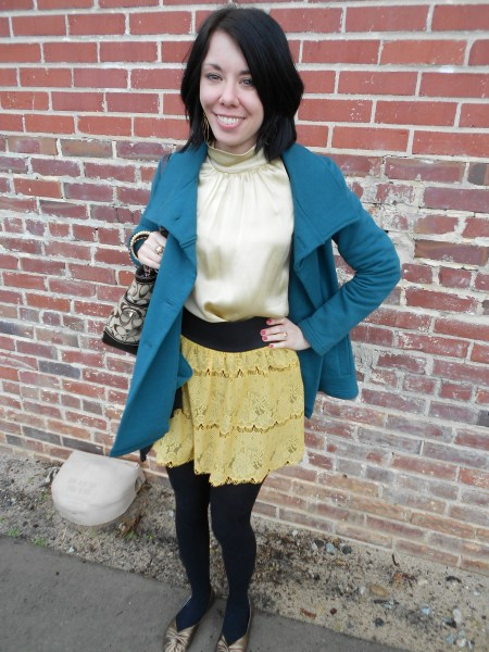 Day 203:  Living My Life Like It's Golden Skirt 6