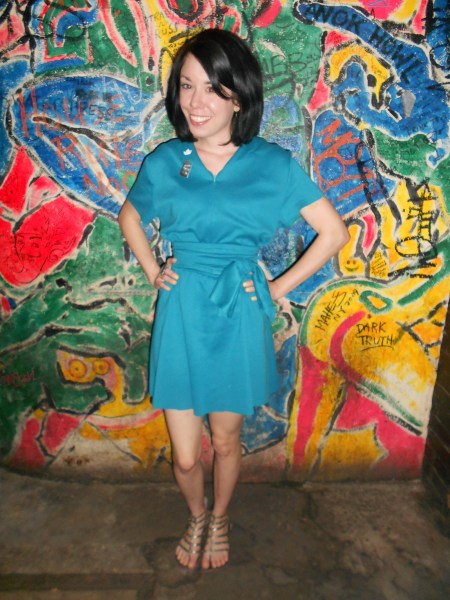 Day 256:  Teal Day Dress 5