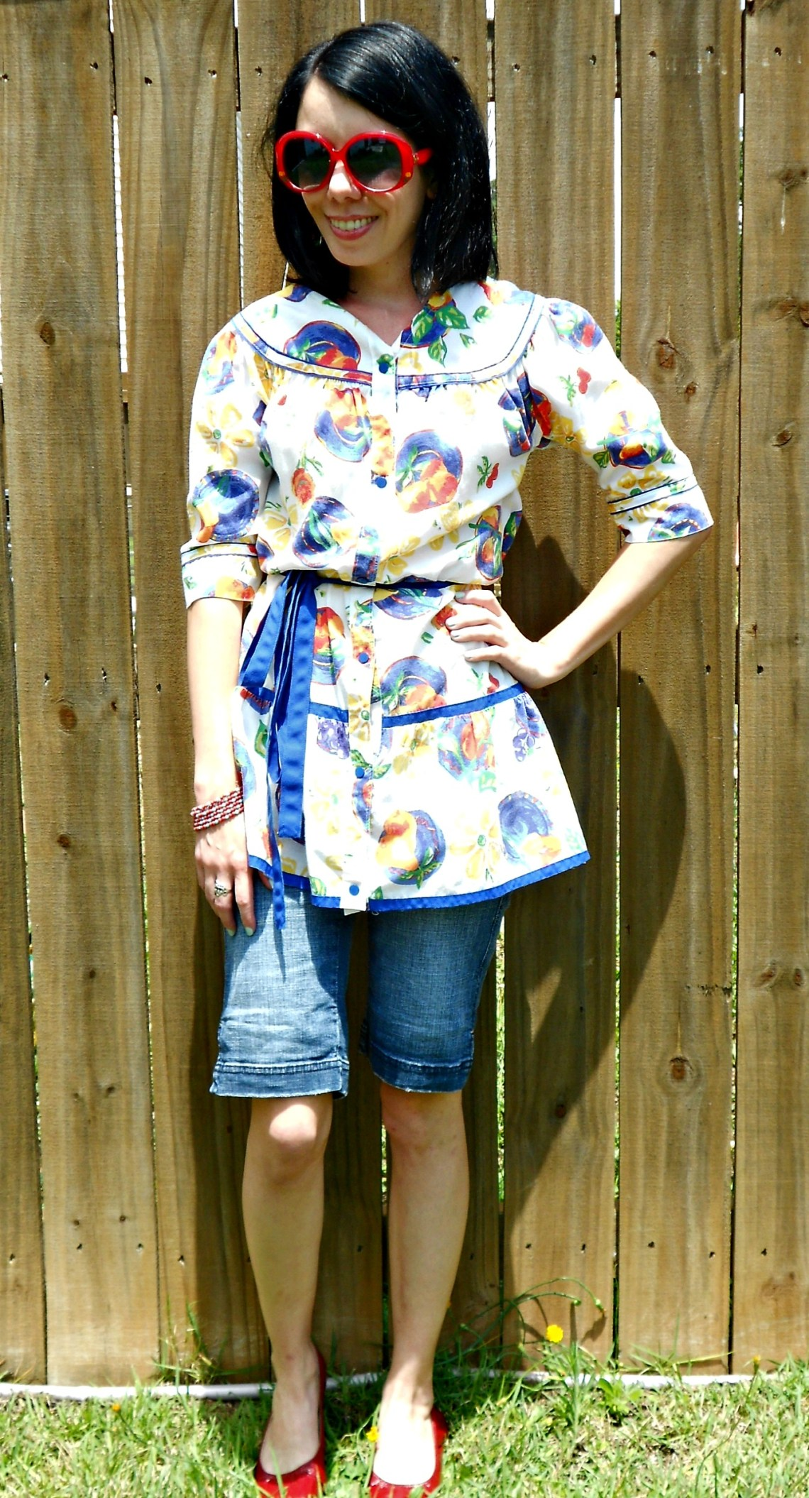 Day 336:  Into the Garden: A House Dress to Top Refashion 5