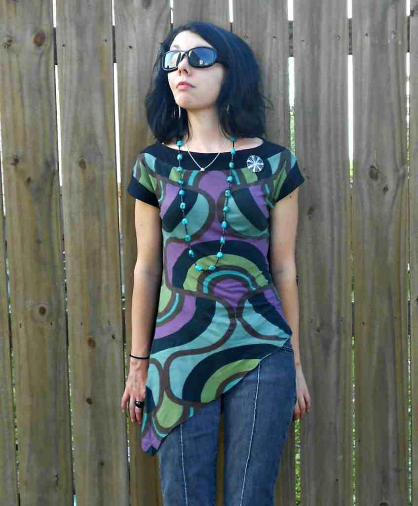 Day 357:  Grown Up Enough: A Dress to Asymmetrical Top Refashion 7