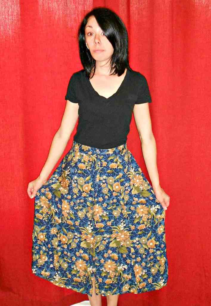 skirt to dress refashion before