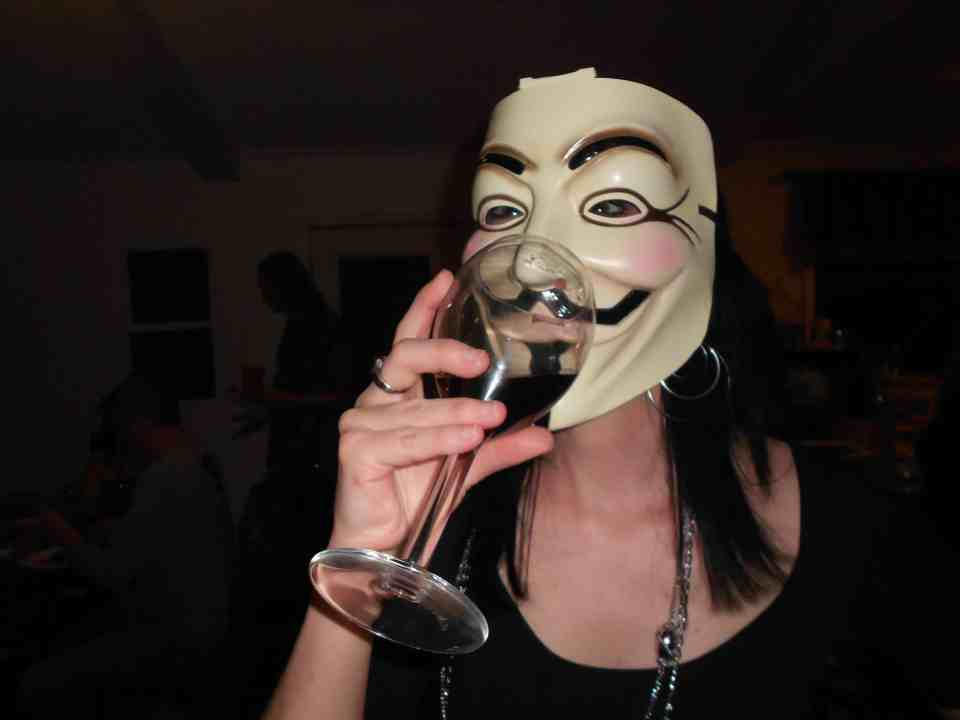It's hard to be anonymous (hehe..get it?) when you're all over the interwebs!