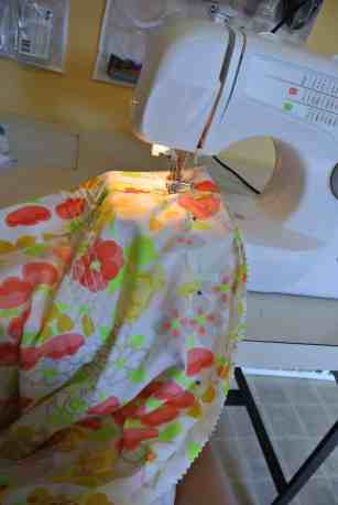 Take it in, then snip off that extra fabric!
