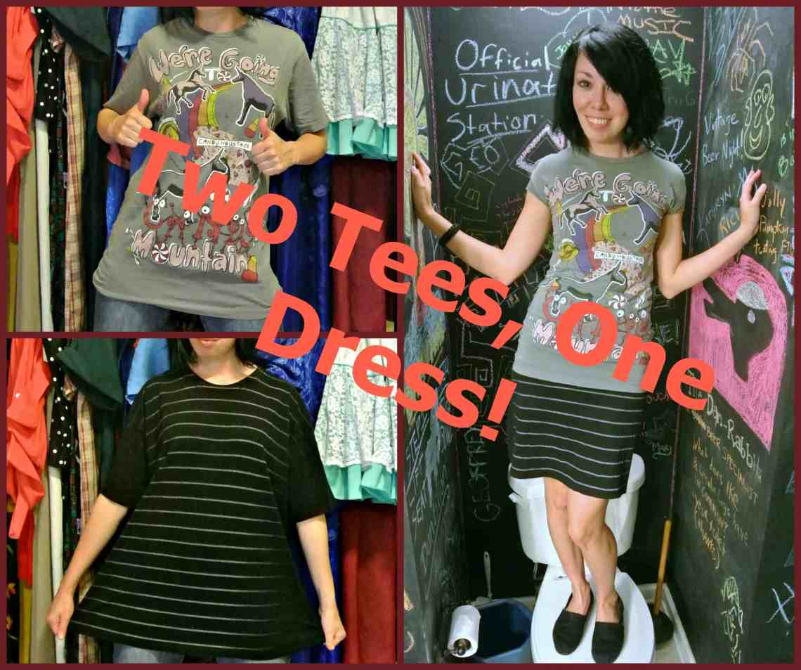 Two Tees, One Dress! 1