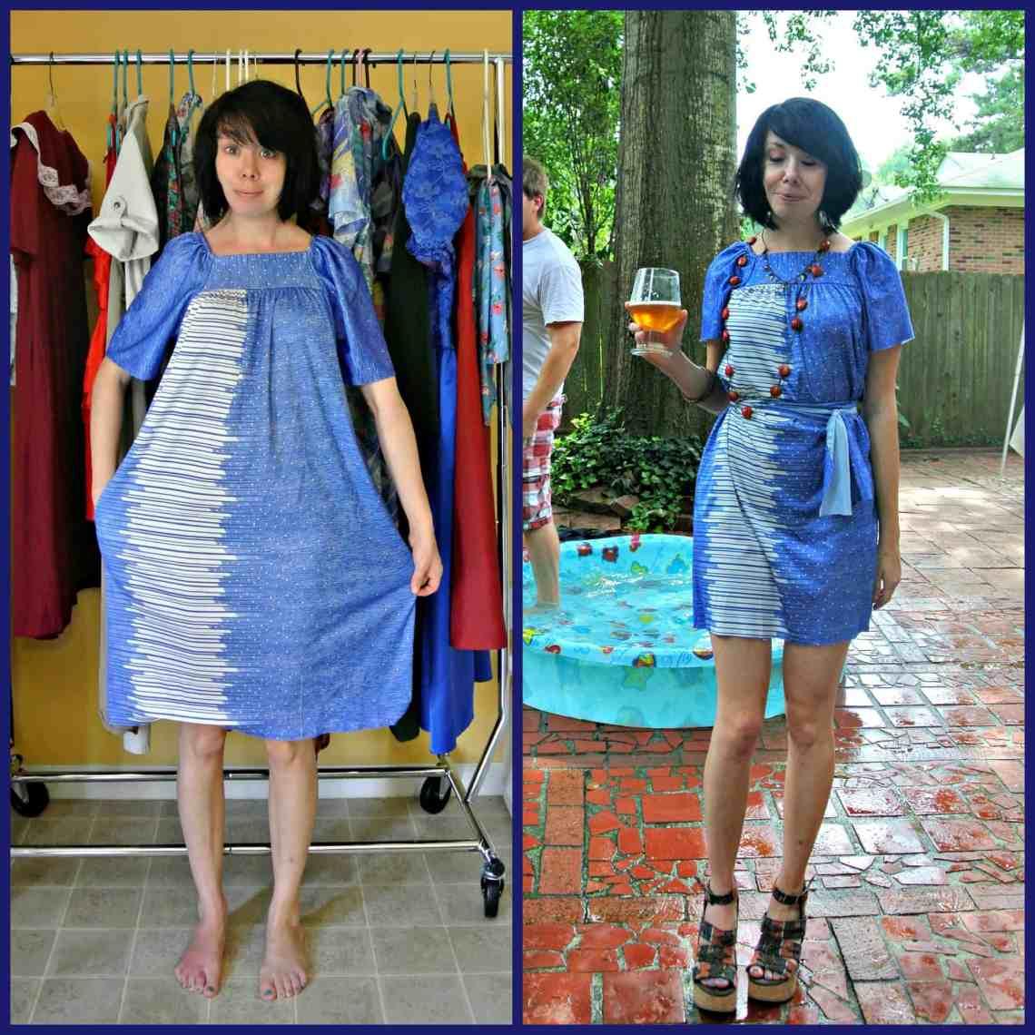 A No-Sew Aquatic Muumuu Dress 9