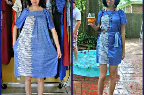 A No-Sew Aquatic Muumuu Dress 9