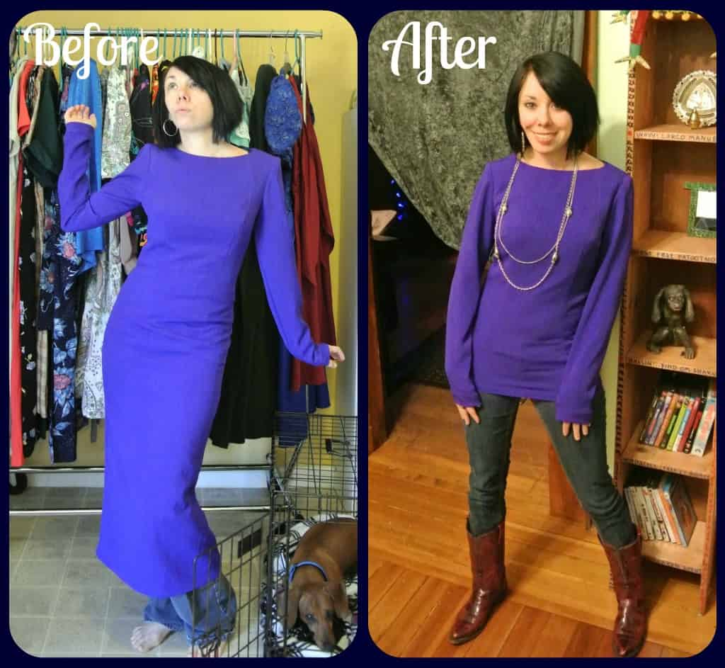 Midnight at the Mountain Oasis:  A Dress to Top ReFashion! 17