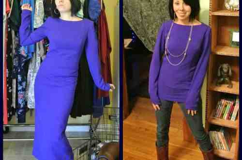 Midnight at the Mountain Oasis:  A Dress to Top ReFashion! 8