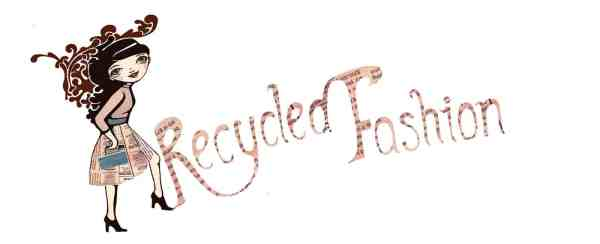 Recycled Fashion Newspaper pinkjpg