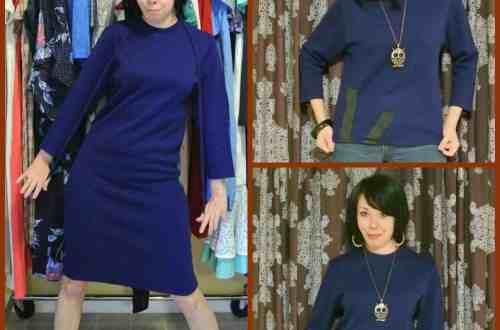 From Frumpy Dress to Funky Sweater! 5