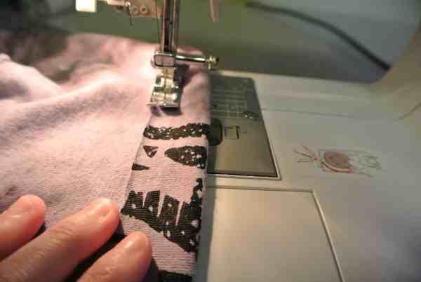 stitching top hem