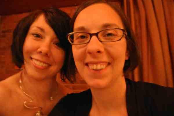 Jillian and Erin at restaurant