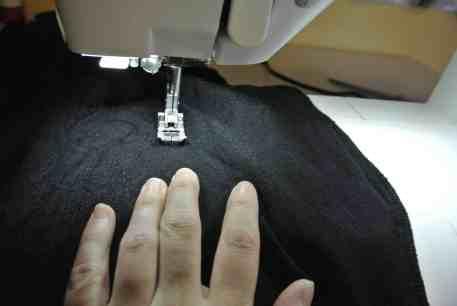 Stitching those new sides!