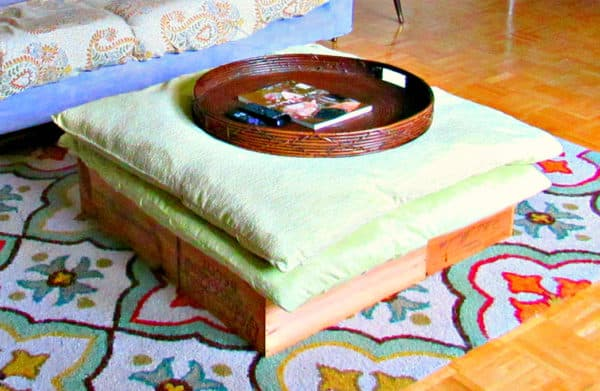 An Easy DIY Wine Crate Ottoman 1